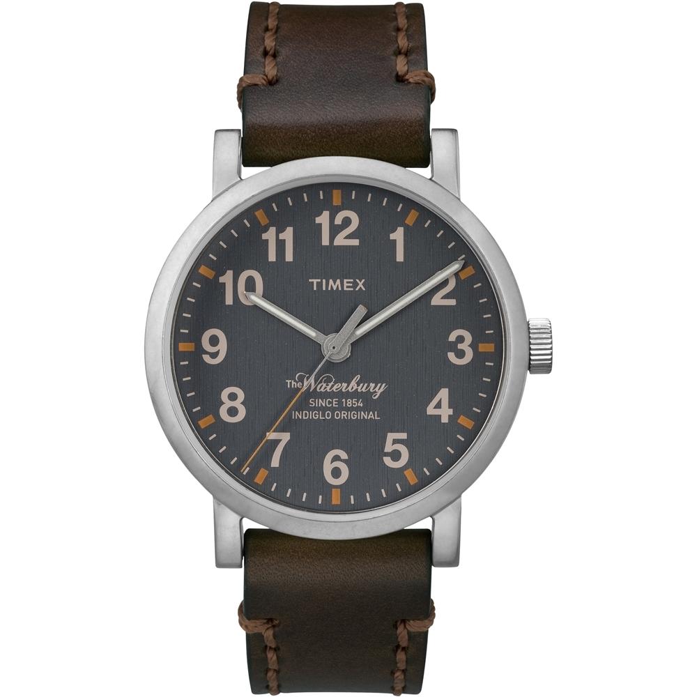 【TIMEX】天美時160周年紀念限量指針手錶(灰x咖啡 TXT2P58700)