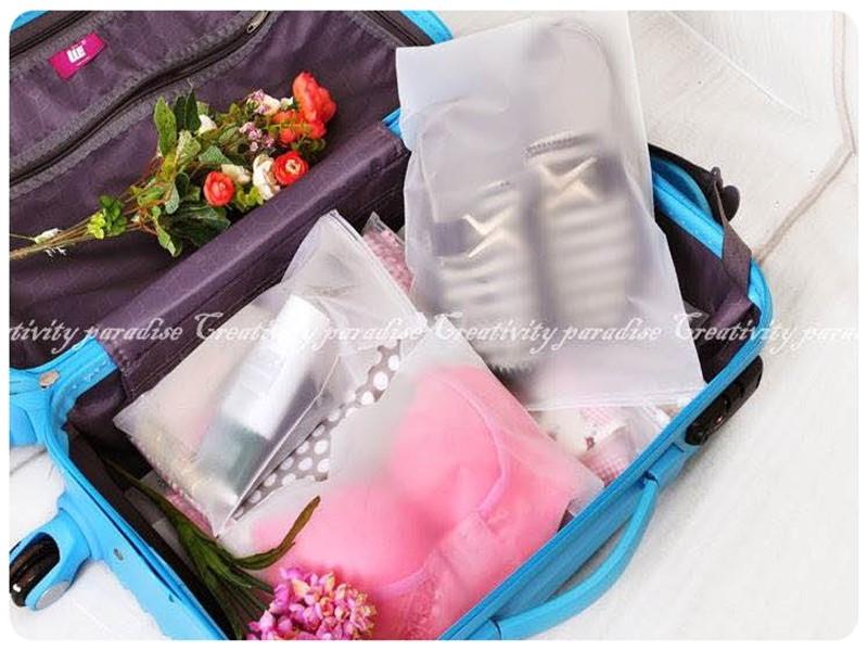夾鏈防水袋中號24x35cm旅行拉鍊收納袋拉鍊封口袋密封收納袋夾鏈袋