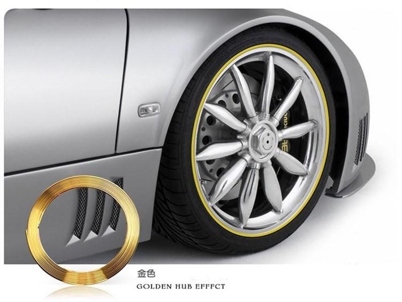 PVC輪框條車用輪胎螢光貼條風火輪反光車貼車載鋁圈保護圈防刮傷擦撞貼紙輪框護膠條