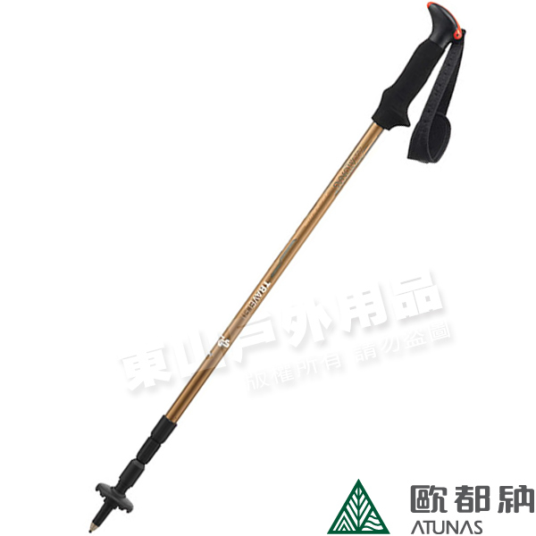 Komperdell 1742423鋁合金軟木握把登山杖無避震3節伸縮旋轉螺牙固定可當拐杖