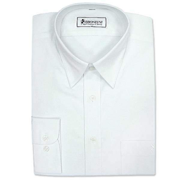 BRONZINI UNICORN襯衫-優雅型(PARIS)-白色-彈性素色-6496516-501