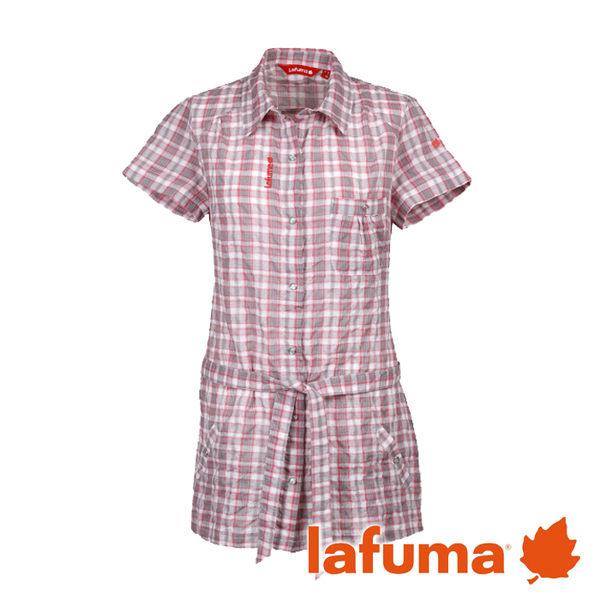 Lafuma 長版短袖POLO衫 女 粉紅 LFV8915