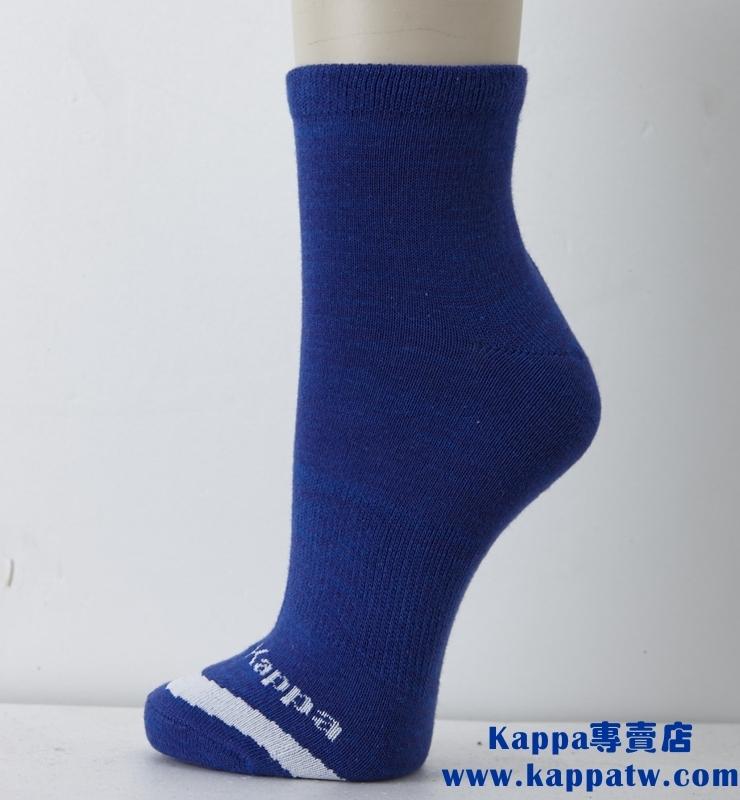 Kappa男生短筒襪-科技藍白薄底SM62-M229-5
