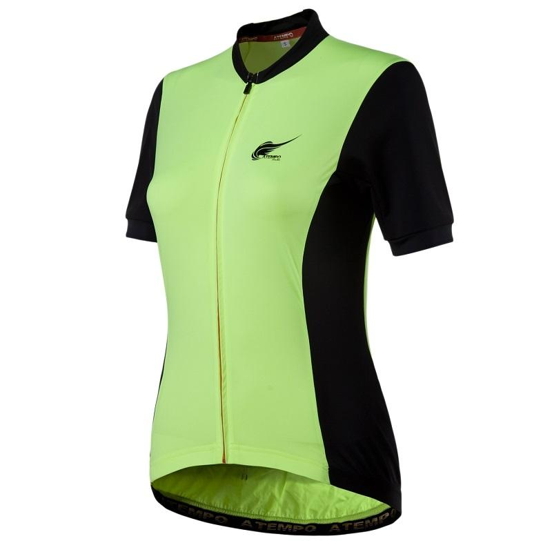 ATEMPO SRR競速系列女款短袖車衣螢光綠月夜花紅黑色女車衣夜騎雙塔