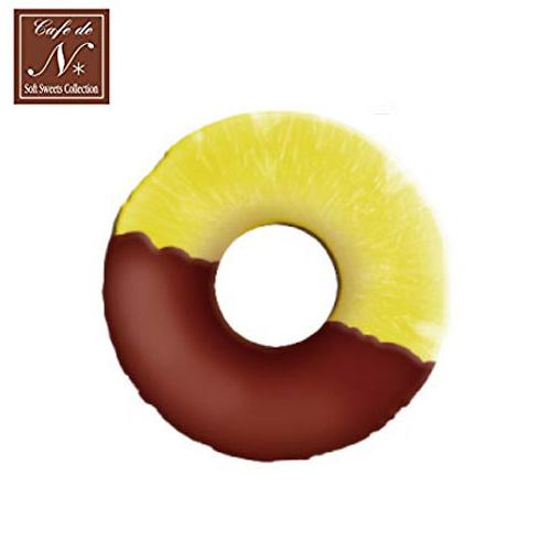 巧克力款日本進口鳳梨片捏捏吊飾吊飾捏捏樂軟軟CAFE DE N SQUISHY 618221