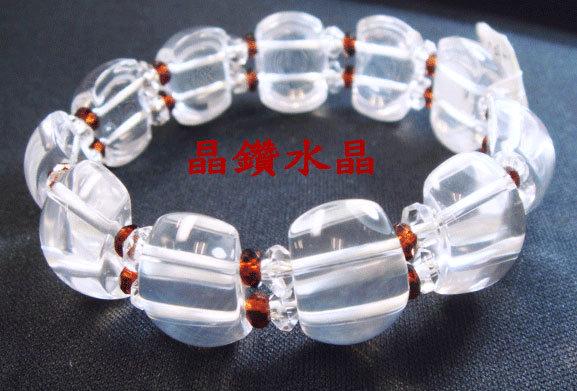 天然白水晶&紅石榴手鍊~乳白水晶~超優質美麗與自信附禮盒~送禮極品*免運費