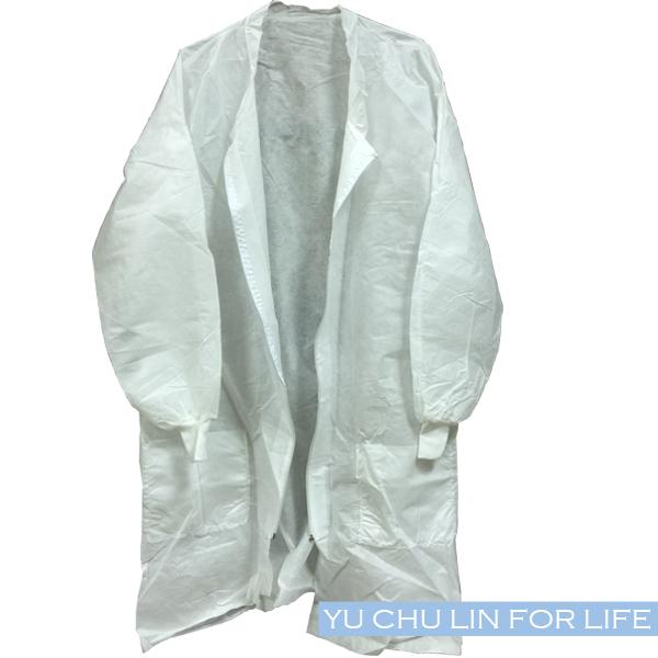不織布拋棄式防塵衣L號/大衣/(拉鏈型及鈕扣型二種可選)