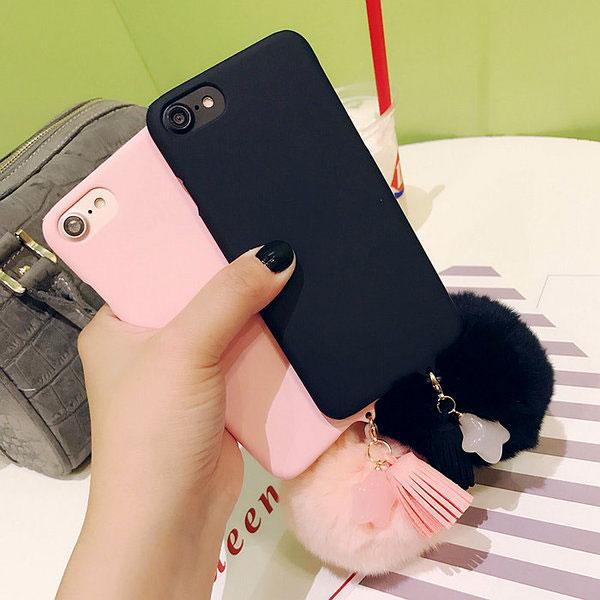 紅荳屋日韓五角星吊墜iPhone7 6s 6plus 7plus流蘇磨砂硬殼蘋果手機殼