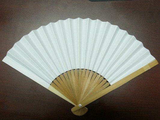 台灣製紙扇子8英吋半紙扇子21.5cm手繪扇小紙摺竹片單面紙MIT製一支入25空白扇子彩繪扇子