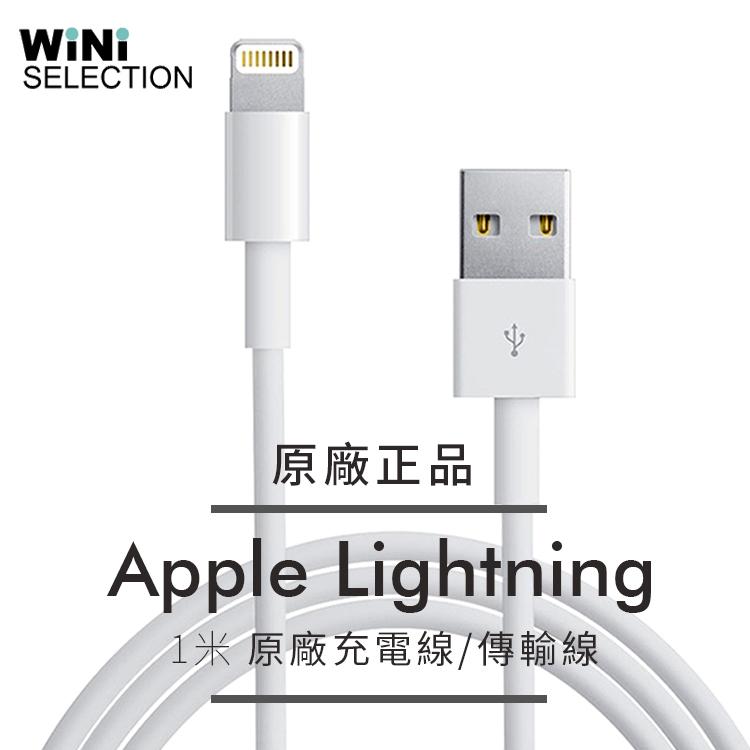 APPLE 1M iPHONE 7 iPHONE 5 iPhone6 6S原廠傳輸線充電線贈蘋果i護套WiNi