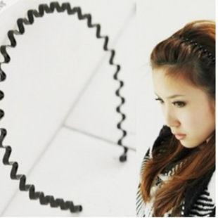 時尚波浪髮箍 髮飾髮圈日韓歐美時尚(1入)◎花町愛漂亮◎