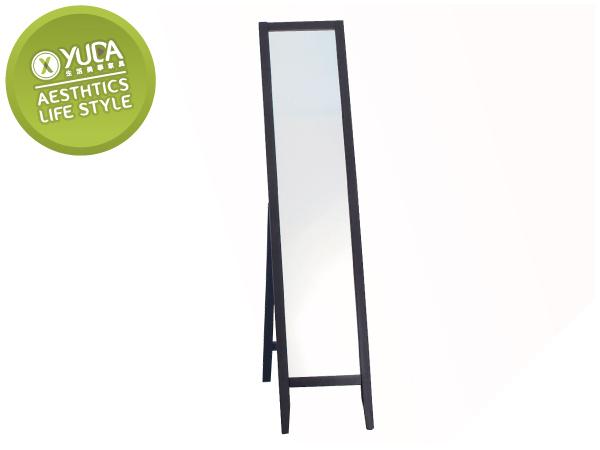YUDA簡約大方直立式防暴實木三色可選立鏡全身鏡穿衣鏡J7Y 551