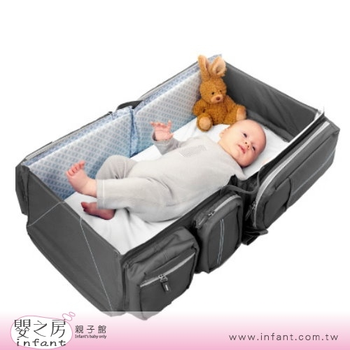 嬰之房比利時Doomoo Basics Carry Cot Travel Bag寶寶行動眠床個性灰