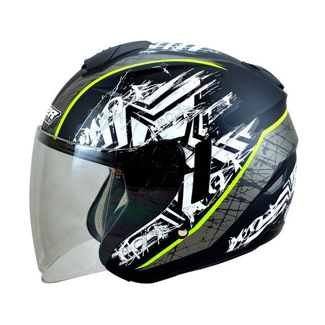 M2R FR1 FR-1 10星塵半罩安全帽消光黑銀3 4罩安全帽雙層遮陽鏡片免運費
