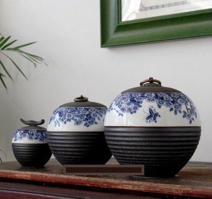 陶瓷罐景德鎮陶瓷大碼茶葉罐小號