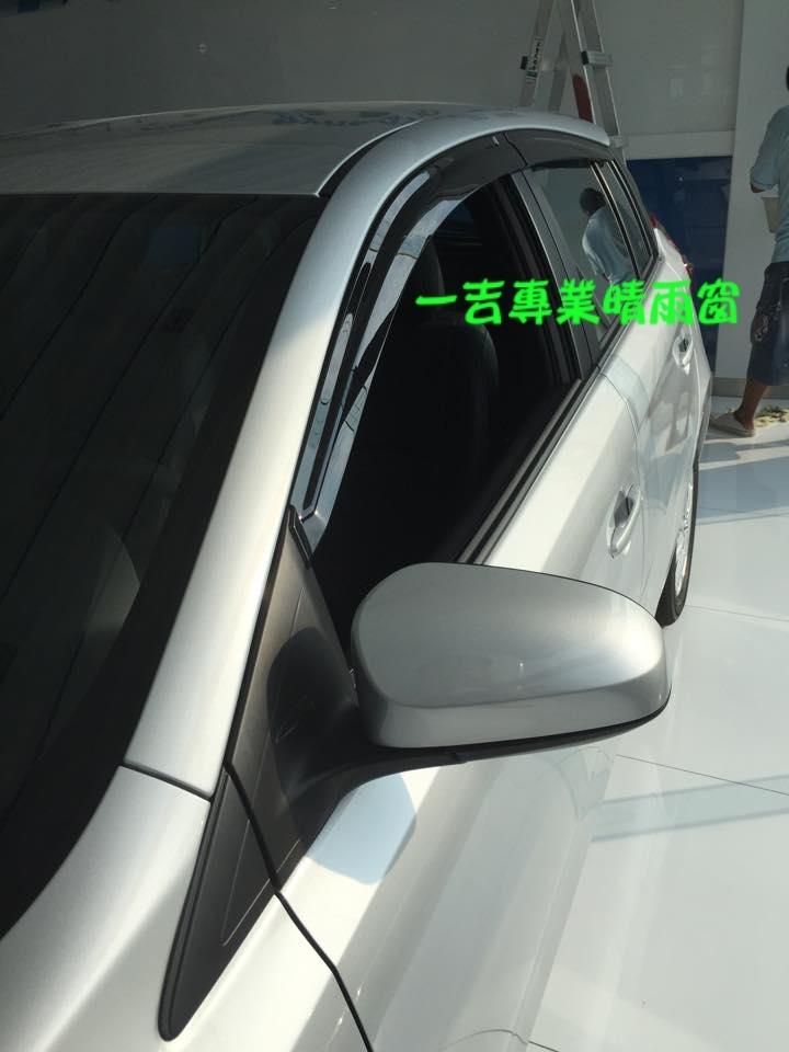 一吉14-16大鴨Yaris加厚射出原廠型晴雨窗台灣製造工廠直營非Mazda camry crv fit focus