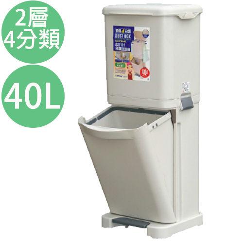 生活大買家免運PW40台北四分類垃圾桶資源回收桶垃圾分類桶垃圾桶兩層式