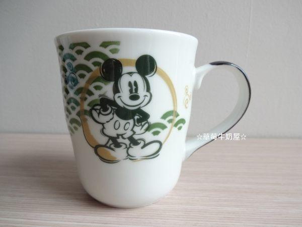 草莓牛奶屋日本進口DISNEY迪士尼和風米奇馬克杯