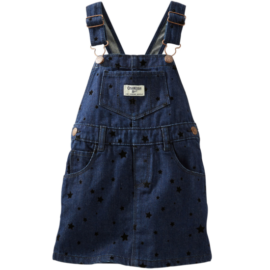Carter's OshKosh美國童裝背帶裙吊帶裙牛仔黑色星星6M 9M 12M 18M 24M