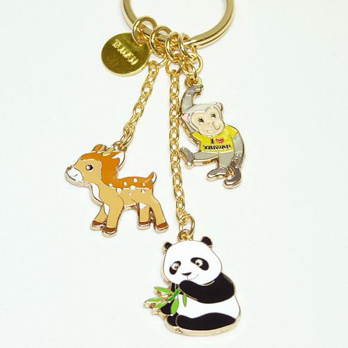 【鹿港窯】台灣印象紀念-金愛台灣鑰匙圈【台灣動物】