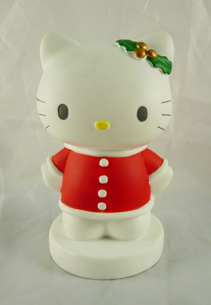 震撼精品百貨Hello Kitty凱蒂貓~造型存錢筒聖誕&草莓共二款