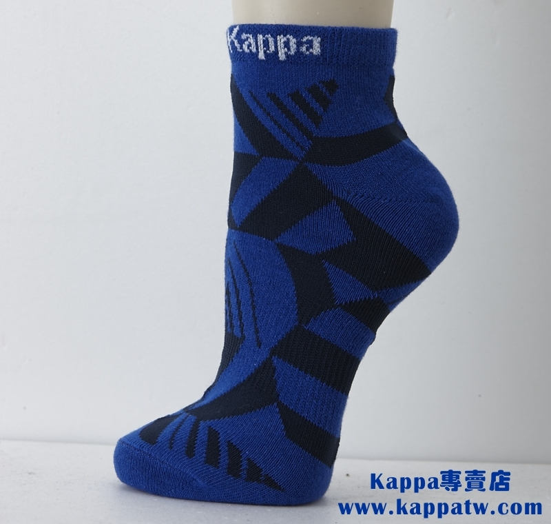 Kappa男生短筒襪-科技藍薄底SM62-M230-5