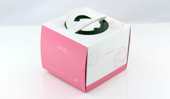 粉色 6吋蛋糕盒 附底托 外帶提盒 烘焙包裝 布丁蛋糕 派盒