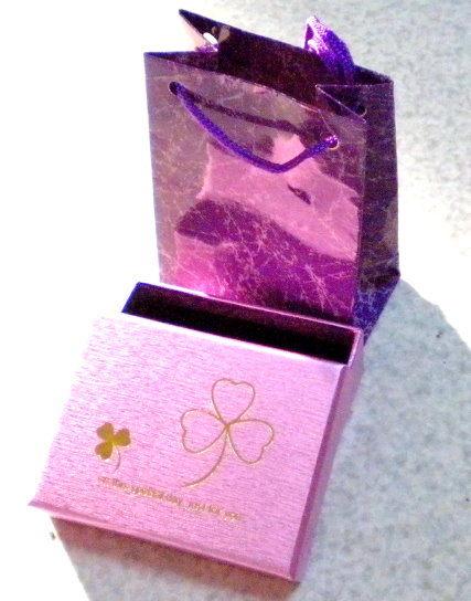 幸運草項鍊盒 提袋 / 對戒戒指盒耳環盒多功能 / 台灣製造