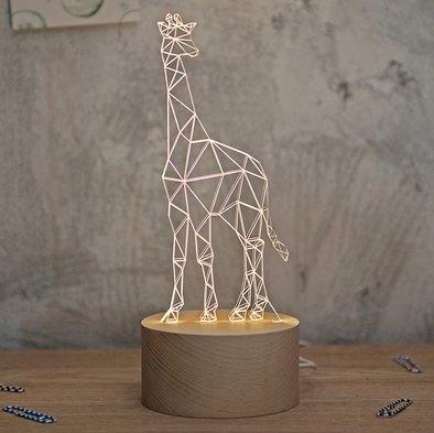 空明家北歐風創意創意長頸鹿臺燈led日式臥室床頭燈兒童動物臺燈