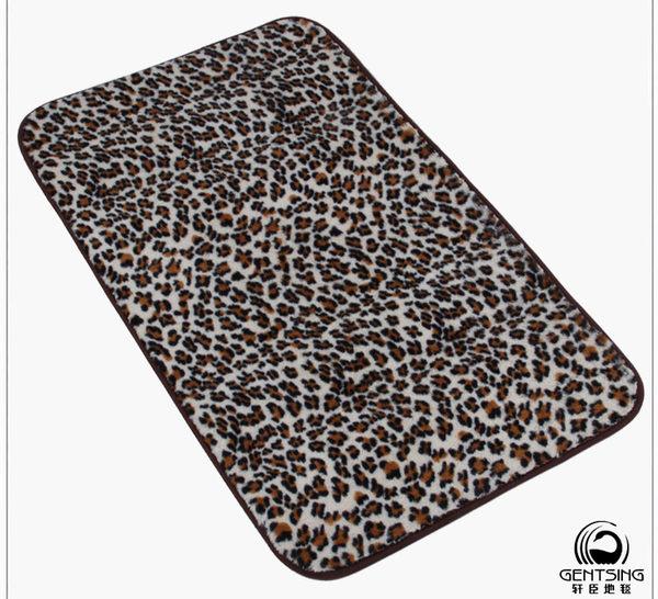 豹紋系列彩色絲毛地墊