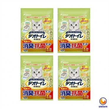 Unicharm 日本消臭大師一月間消臭抗菌沸石砂 2LX4包