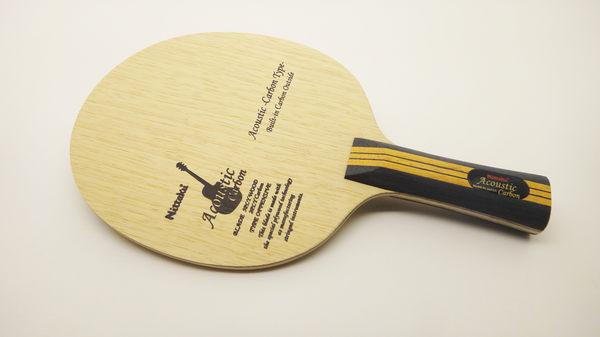 Nittaku Acoustic Carbon木吉他碳桌球拍