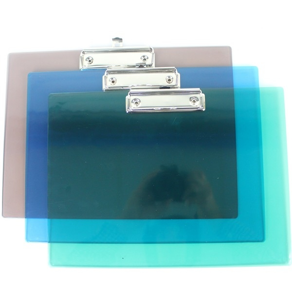 A4壓克力板夾LM-2005亮美A4板夾橫式.透明一箱12個入定60~MIT製23cm x 32cm
