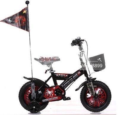 兒童自行車男女孩四輪腳踏車12 14 16 18吋可選黑色B款LG-286892
