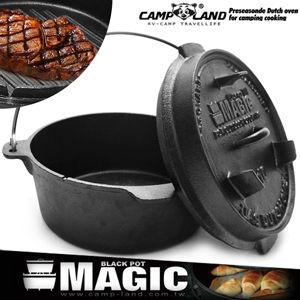 荷蘭鍋10吋頂級鑄鐵鍋蒸氣孔鍋蓋鍋架.雙耳.烹魚.油炸鍋.戶外露營推薦哪裡買MAGIC