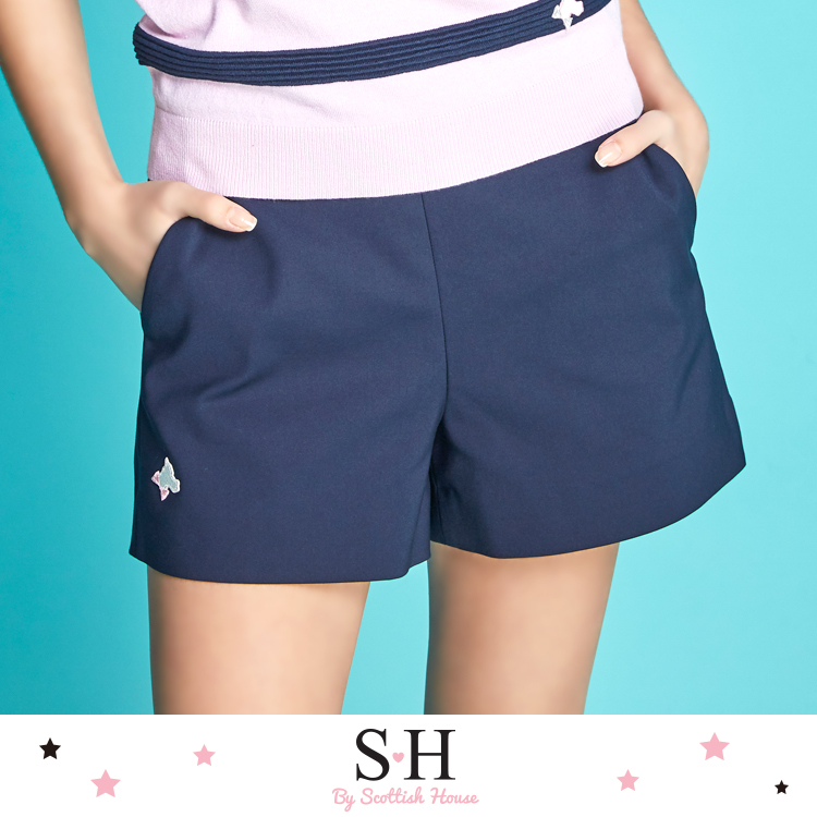 側拉鍊口袋短褲 Scottish House【SB2253】