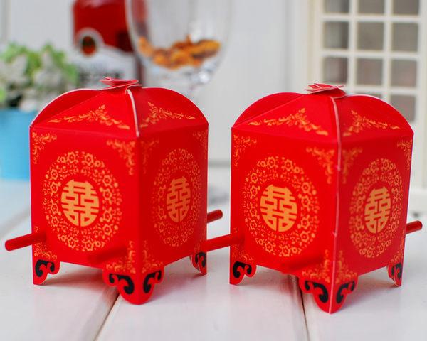 (免費摺喜糖盒)大紅花轎喜糖盒喜糖盒,婚禮小物/份