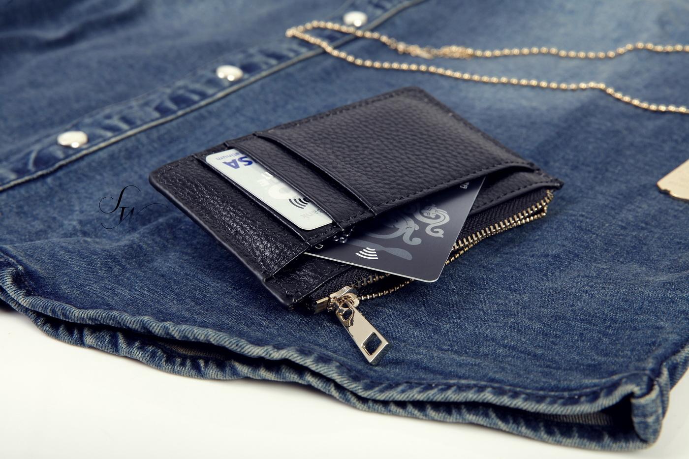 SW正韓韓國製真皮淡金拉鍊實心拉鏈頭質感精品信用卡悠遊卡名片夾零錢包K81122