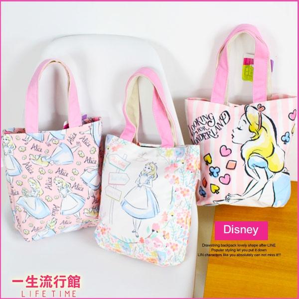 限量迪士尼愛麗絲正版手提帆布便當袋水壺收納袋購物袋B19051
