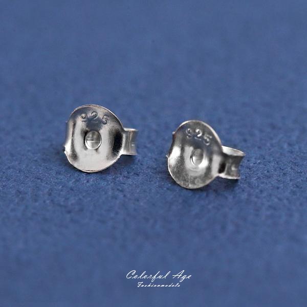 耳環 925純銀耳針後扣 扣環 柒彩年代【NPD49】