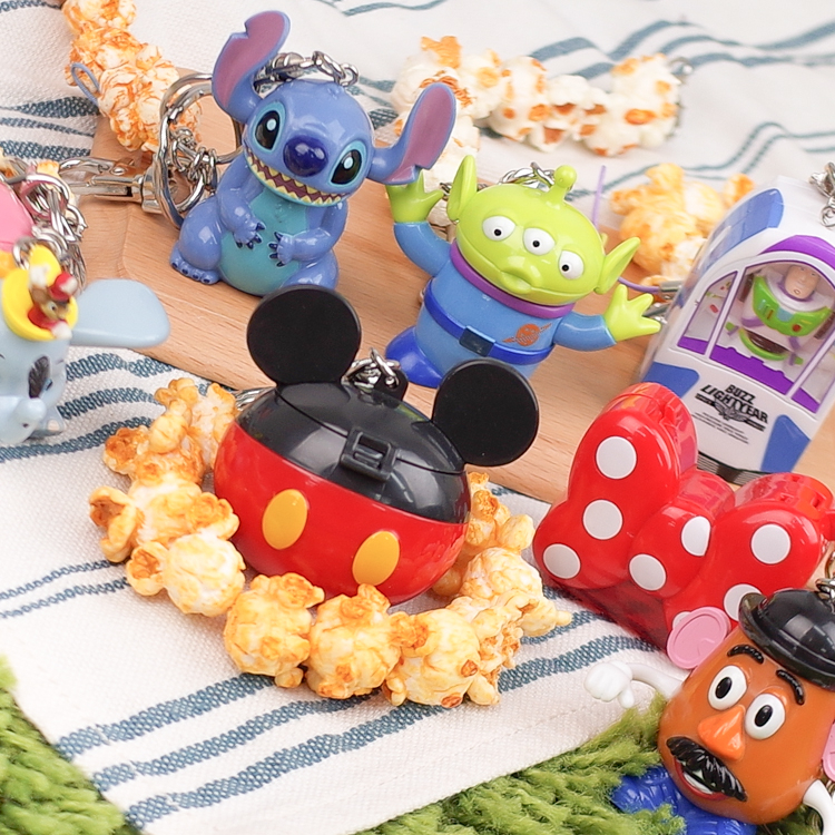 PGS7迪士尼系列商品-日本迪士尼樂園爆米花桶吊飾造型鑰匙圈三眼怪蛋頭先生SKD6718