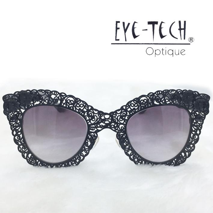 橘子樹眼鏡Eye Tech鏤空花紋立體花太陽眼鏡獨家限量ET3269黑色抗UV太陽眼鏡日本製