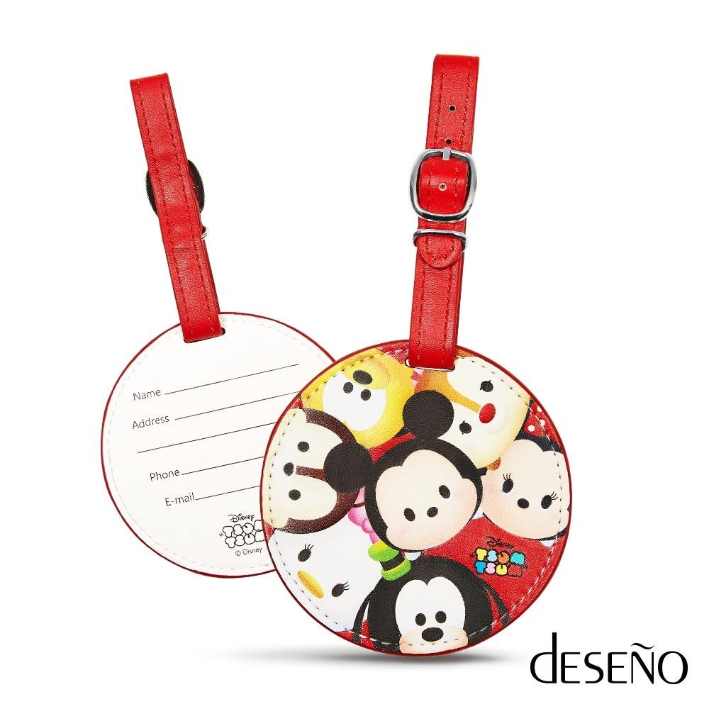 行李吊牌DESENO Disney迪士尼TSUMTSUM皮革可愛行李箱吊牌行李吊牌米奇B1135-0012