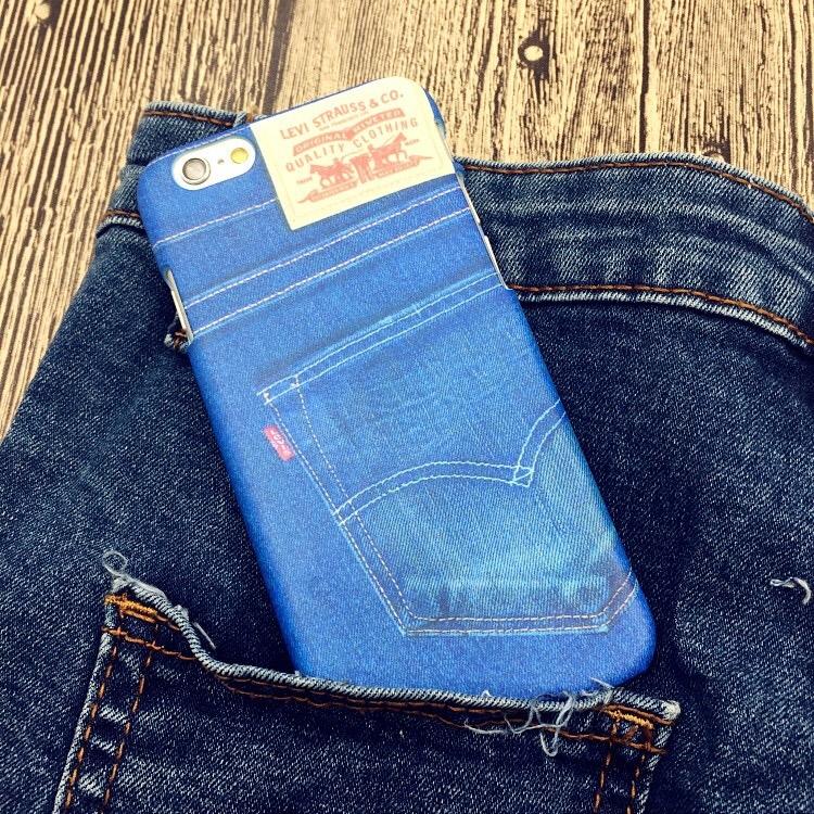 iPhone手機殼 Levis經典牛仔褲 磨砂硬殼 蘋果iPhone7/iPhone6/iPhone5手機殼