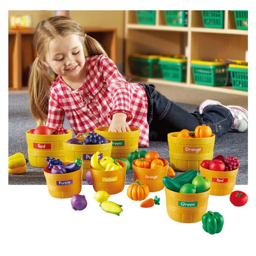 蔬菜農場LR學習資源兒童幼兒教具玩具遊戲情境扮演家家酒廚房收納配件籃子蔬菜水果黃瓜