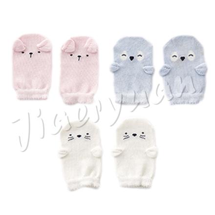 奇哥立體造型嬰兒手套趾無痕白色藍色粉色佳兒園婦幼館