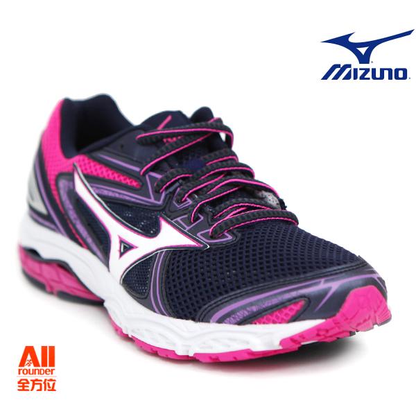 【Mizuno美津濃】女款慢跑鞋 WAVE PRODIGY一般型-深紫粉 (J1GD171001)【全方位運動戶外館】