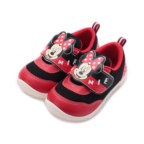 DISNEY 米妮雙色寶寶鞋 紅黑 中小童鞋 鞋全家福