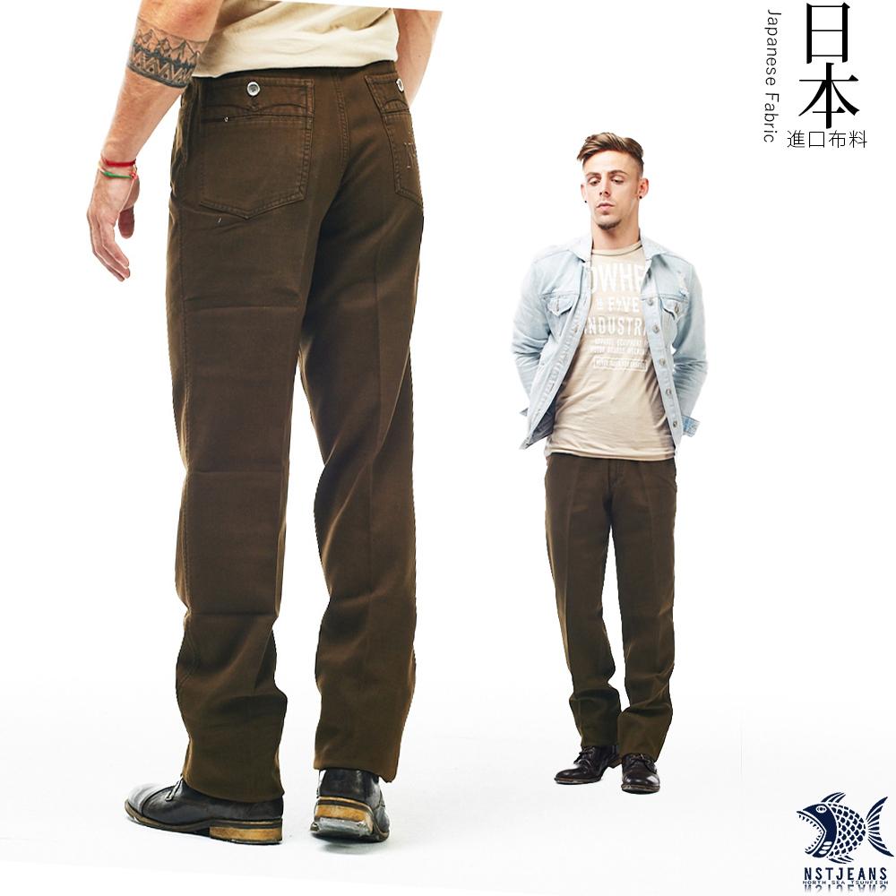 [即將斷貨] NST Jeans 日本布料_花樣年華復古咖啡廳 直筒休閒男褲(中腰) 390(5635)台製 紳士 重磅