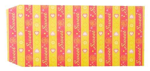 成昌5號20k黃底愛心圖案貼心禮物袋款式隨機出貨36張束